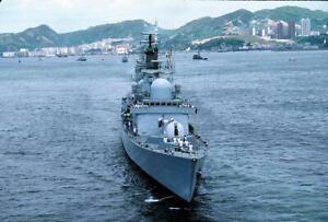 HMS Manchester D95 yr 1986 Hong Kong V204 35mm Ship Slide