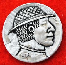 1936 S HOBO BUFFALO NICKEL  MAN IN HAT SIGNED BY BRENT PEARSON