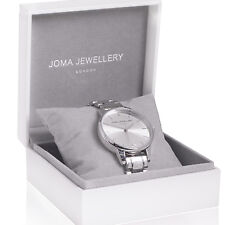 Joma Jewellery Piper Silver plated metal link Watch in gift box, present for her