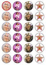 24 x Miss Piggy Muppets Festa Carta di riso Cake Topper