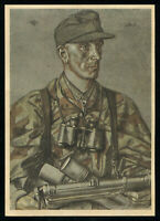 Postcard Germany 3rd Reich WWII German Wehrmacht Lieutenant Witsch by Willrich