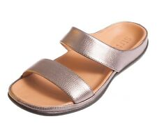 Strive Lombok Sandals, Contoured Sole, Pewter Silver Color In Leather, 9.5/10