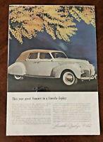 "*VINTAGE Print Advertisement for Lincoln Zephyr V-12 (9.5"" x 14"") ~ Antique Cars"