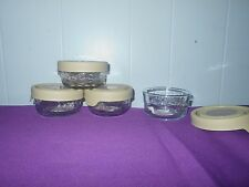Princess House Fantasia Seal-Tight 1-Cup Storage Bowl (0926) Set of 4 New In Box