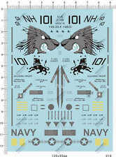 1/48 USAF US VF-213 Black Lion F-14B F-14D Tomcat Fighter Model Decal 12*9cm 518