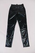 Asos Women's High Waisted Wet Look Leggings HD3 Black Size UK:10 US:6 NWT