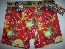 Crazy Boxer Underwear Mens Boxer Briefs 1 Pr Snowman Bell Graphic