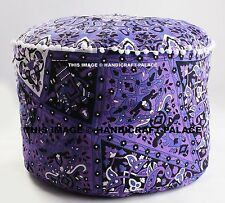 "24"" Star Mandala Round Tapestry Indian Pouf Ottoman Foot Stool Moroccan Pouf"