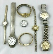 Mixed Lot of 8 Men's Women's Watches Seiko Timex Waltham Citizen Parts Or Repair