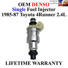 Single Denso Genuine Fuel Injector For 1985-1987 Toyota 4Runner 2.4L