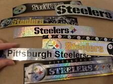 PITTSBURGH STEELERS 7 LONG GLITTER STICKERS 8inch