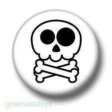Skull 1 Inch / 25mm Pin Button Badge Emo Goth Punk Rock Skulls Skeleton Badges