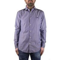 Armani Jeans Camicia Uomo Col Blu tg L | -45 % OCCASIONE |
