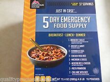 5 Day Emergency Food Suppply-Mountain House Freeze Dried Food Pouches-37 Serving