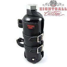 Eightball Benzinflasche Getränke Flasche Leder Halter für Harley & Custombikes
