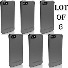 6 LOT - Ballistic AGF Smooth Series Case for iPhone 5/5S SE w/Color Bumper Shock