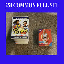 2018 AFL SELECT FOOTY STARS 254 COMMON CARD FULL BASE SET + WOMENS CARDS