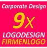9x Logovorschläge professionelle Firmenlogos Logo Webdesigner inkl. Vektorgrafik