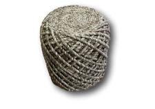 Sitzkissen 100% Wolle Sitzhocker Pouf 45x41cm Hocker Handarbeit braun meliert