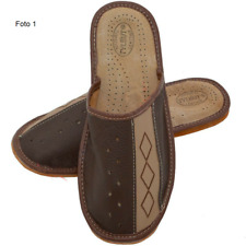 Men's slippers for home Shoes made of genuine leather All sizes + GIFT
