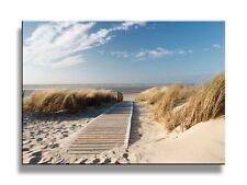 Tropical Beach Painting Framed Print Art Canvas Sun Picture Sea Ocean Sand View