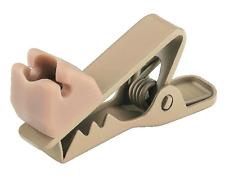 Pince de Fixation Câble pour Micro Serre Tete ou Oreillette Couleur Beige Chair