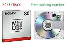 New! 10 Sony MD80 Blank Mini Disc 80 Minutes Recordable MD Japan Genuine●W Track