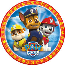 """Paw Patrol round 1   7.5"""" ICING Cake Topper Pre-Cut Personalised"""