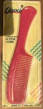 Vintage Retro NOS 1989 GOODY Super Comb Pink pinkish red NEW
