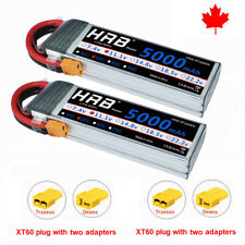 2xHRB 5000mAh 11.1V 3S Lipo Battery 50C XT60 Traxxas For RC 1/8 1/10 Scale Drone