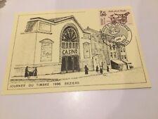 Enveloppe 1er Jour - Journée du timbre 1986 Béziers