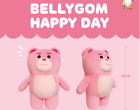 """Bellygom Pink Bear Plush Official Animal Doll 11"""" 30cm Toy Gift"""
