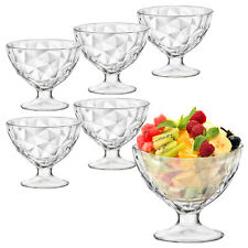6 Bormioli Rocco Ice Cream Sundae Glasses Appetizer Dessert Cocktail Fruit Glass