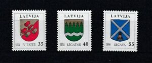 Lettonie 778 - 80 Timbres-Poste Armoiries (MNH)