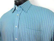 Bugatchi Uomo Long Sleeve Striped Shirt Men's 3XL Blue