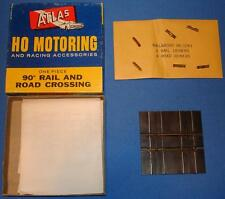 Atlas Ho Scale Motoring Slot Car Racing Train Track 90º Rail & Road 1243 Nmib