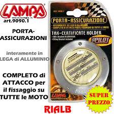 PORTA - ASSICURAZIONE in LEGA di ALLUMINIO - ORIGINALE LAMPA ART. 90901 9090.1
