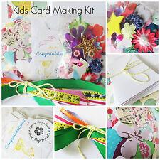 Card Making Kit for Girls, Boys, Kids Holidays Craft Activity Birthday Christmas