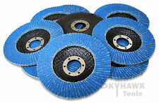 10-pc. 4-1/2 Inches Ziroconia Sanding Paper Flap Disc  60 GRIT 7/8 Arbor New