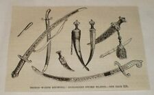1870 magazine engraving ~ DAMASKEEN SWORD BLADES