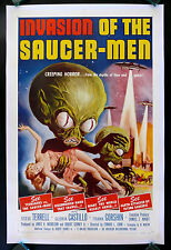 INVASION OF THE SAUCER MEN * SAUCERMEN FLYING SAUCER-MEN MOVIE POSTER ALIEN 1957