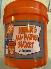 2 Gallon Bucket Home Depot Homer Plastic Utility Orange Pail Heavy Duty Car