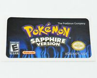 Pokemon Sapphire GBA Replacement Label SHINY FOIL Sticker Gameboy Advance USA