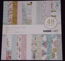 "Kaisercraft 'CHRISTMAS WISHES' 12"" Paper Pad - 48 Sheets (24 Designs x2) RRP $20"