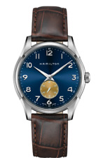 Hamilton Jazmaster Thinline Small Second Blue Dial LTHR Band Men Watch H38411540