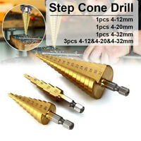 Large HSS Steel Step Cone Drill Titanium Bit Set Hole Cutter 4-12/20/32m IOBDAU