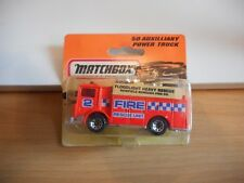 Matchbox Mack Auxilliary Power Truck in Orange on Blister