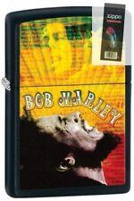 Zippo 28257 bob marley black matte finish RARE DISCONTINUED Lighter + FLINT PACK