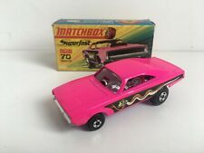 Matchbox Superfast Dodge Dragster Reference No 70 Purple Base Excellent Boxed