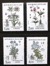 FRANCE 1983 Flowers Thistle Aster Lily. Set of 4. Mint Never Hinged. SG2583/2586